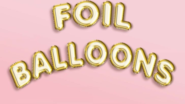 Gold Foil Balloon Text Effects Photoshop