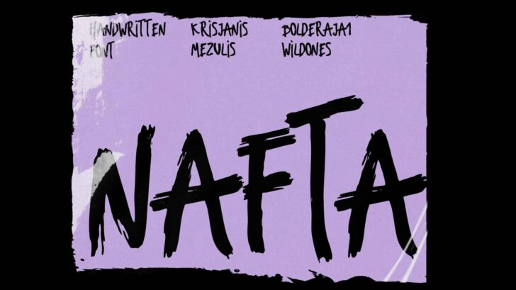 Nafta Light Marker Font - Nafta Is A Crisp And Modern Free Brush, Marker Typeface That Embodies Free Hand Drawn Shapes Combined With Bouncy Positioning Between Each Letter.