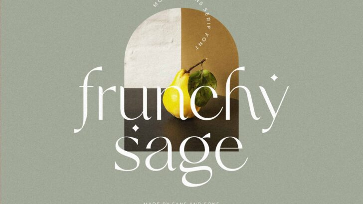 """Frunchy - Modern Elegant Chic Display Font - introducing our new """"Frunchy"""" Modern Ligature with Elegant Style this is perfect for branding, logos, invitation, masterheads and more."""