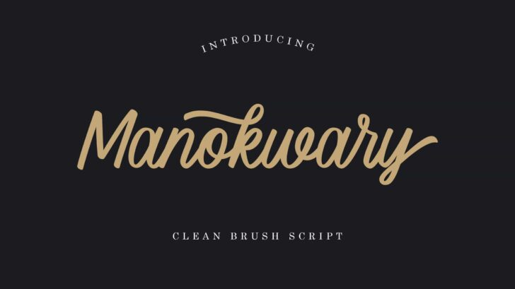 Manokwary Script Font - A clean script with opentype feature. Manokwary created from brush pen with basic technique. it's perfect for a wedding invitations, save the date cards, fine art papery, feminine branding or personal gift cards.