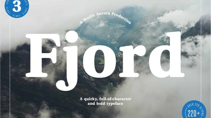 Fjord - Soft Fat Serif Font - A bold serif, full of character, quirks, and uniqueness to bring your next project to life. The soft, friendly uniqueness of this typeface makes it perfect for a number of projects and uses including; magazines (titles and layouts), logos and branding, invitations, quotes, blog headers, posters, and advertising.